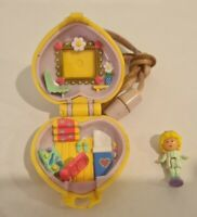 Vintage Polly Pocket BlueBird 1991 Polly In Her Bedroom Locket Necklace COMPLETE