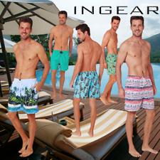 INGEAR Men's Swim Trunks Water Shorts Swimsuit Casual Beach Shorts with Mesh Lin