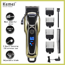Pro Mens Hair Clipper Trimmer LCD Display Beard Trimmer Hair Cutting Machine Kit