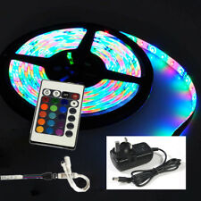 12v Plug in Waterproof 5m 300 LED RGB Strip Light Tape With Remote Power Supply