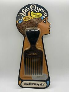 Vintage Ace Combs Afro Queen Hard Rubber Hair Pik Pick Sealed New Old Stock s3