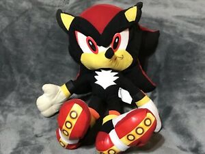 """RARE SEGA Sonic SHADOW The Hedgehog 2001-2004 16"""" Plush Toy Network 🔥🔥🔥"""