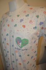 Sleep Sack Vaporwave Heart Pajamas Rainbow Unicorn Hippie L T-Shirt Vtg 80s 90s
