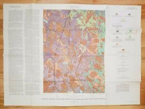 Vintage 1969 Geologic Map of Georgetown, Essex County, Massachusetts