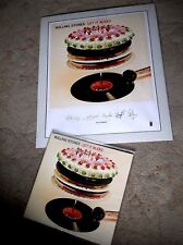 ROLLING STONES - LET IT BLEED ; rare Limited #'d Lithograph Print and Clear V LP