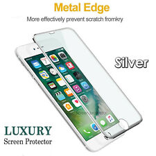 100% Genuine Tempered Glass Screen Protector Metal Edge For iPhone 8