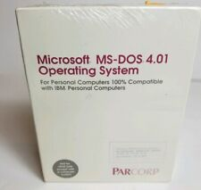 Rare Vintage Microsoft MS DOS 4.01 Opersting System IBM Parcorp New Sealed 1980s