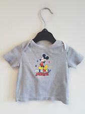 DISNEY BABY TEE SHIRT WITH MICKEY MOUSE GRAPHIC UP TO 3 MONTHS Cotton