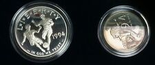 1994 2pc World Cup Proof Silver One Dollar S$1 & 50C Commemorative Coin - 1