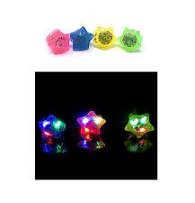 12 Star Love Blinkende LED Jelly Ringe Leuchtend Finger Spielzeug Party Tasche