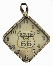 Route 66 Metal Wall Clock 9.5 x 12.75 x 2 inches