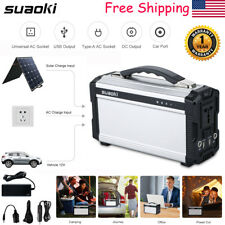 Suaoki Portable 200W Solar Power Inverter Generator Supply Energy Storage Source