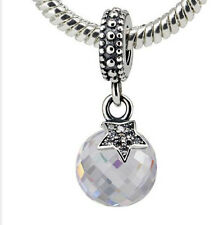 European Silver Charm Bead Fit sterling 925 Necklace Bracelet Chain US hot a15
