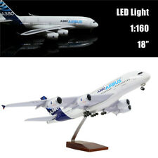 "18""(46cm)1:160 Airbus A380 Airline Model Plane with LED Light for Decoration"