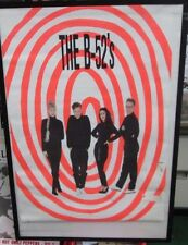 B52'S POSTER DEATH ORIGINAL NEW 1ST TEN YEARS 1990 HEAVY METAL B52S LOVE SHACK