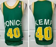SHAWN KEMP Vintage Champion Seattle Supersonics Basketball Jersey Shirt Size 36
