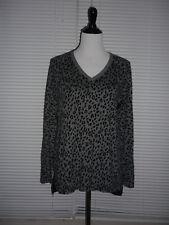 16c6557da0d79 NWT Maternity Ann Taylor Top Shirt, V-Neck, Gray Leopard Animal Print,