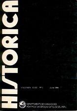 Revista Historica Peru Universidad Catolica XVIII (1) 1994