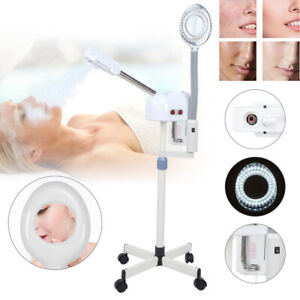 2In1 Hot Spray Facial Steamer & 5xLED Magnifying Lamp Beauty Salon SPA Skin Care