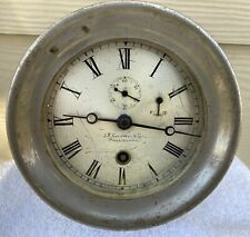 "Chelsea Clock 4 1/2"" Dial ""Ship's Deck Clock"" Time Only Nickel Plated Ca.1902"