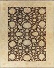 Antique Floral Oushak Egyptian Vegetable Dye Area Rug Wool Hand-Knotted 10x13