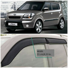 KE11309 Window Visors Sun Guard Vent Wide Deflectors For Kia Soul I AM 2009-2012