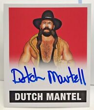 Dutch Mantel 2017 Leaf Originals Wrestling RED on-card Autograph Auto #'d 6/10