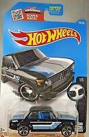 2016 Hot Wheels #186 BMW 1/5 BMW 2002 Black Variation w/Chrome MC5 Spoke Wheels