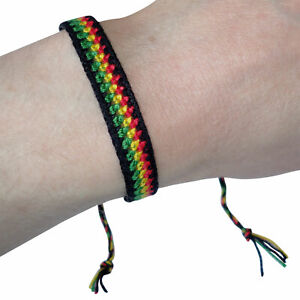 Cotton Wristband Bracelet Bangle Mens Womens Ladies Boys Girls Kids Childrens