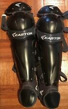 Easton Prowess Adult 15.5 Inch Fastpitch Catcher's Leg Guards - Black