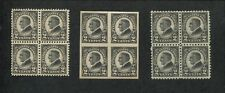 1923 United States Postage Stamps #610-612 Mint Never Hinged OG VF Block of 4