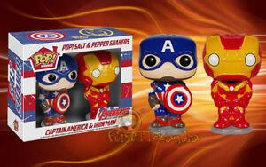 Pop! Captain America & Iron Man Salt & Pepper Shakers Set Of Salt and Gift Idea