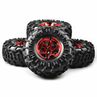 Rubber 4Pcs 1:10 Bigfoot Tires&Wheels 12MM Hex For Monster Truck 1/10 RC Car