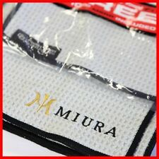 Miura Golf Custom Logo Club Glove Microfiber Caddy Free Pocket Golf Towels Gray