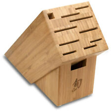 NEW Shun Japan 11-Slot Bamboo Knife Block - DM0831 - Simple Cleaning