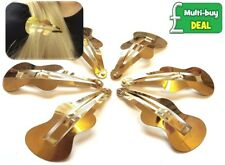 6 x Large Yellow Gold Effect Snap Hair Clips Bendies Sleepies Slides Hair Grips