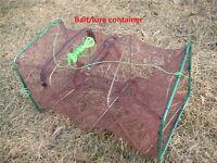 Crab Fish Crayfish Lobster Shrimp Prawn Eel Live Trap Cage Net Bait Fishing Pot