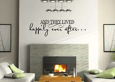 And They Lived Happily Ever After, Vinyl Wall Lettering art Words Decal