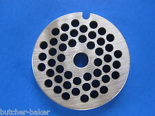 """#8 x 3/16"""" hole size meat grinder chopper plate disc die"""