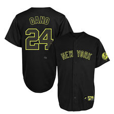 Robinson Cano New York Yankees NEON Black Replica Jersey Men's - MAJESTIC