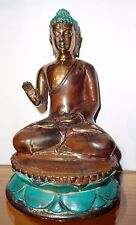 Bronze Sitting Buddha made of very solid bronze measuring 5.5'' great patina!