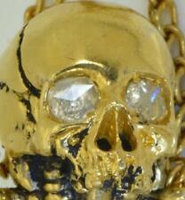 Important historic Victorian poison Skull bottle.18k gild silver&0.6ct Diamonds