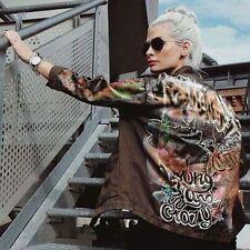 ZARA Khaki Green Graffiti Parka Short Jacket S BNWT 4043 242