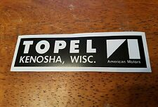 AMC Topel dealership magnetic sticker AMX Javelin Spirit Pacer Hornet Gremlin