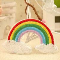 2x arco iris paz Dios amor nube de hierro en parche applique coser insig*ws