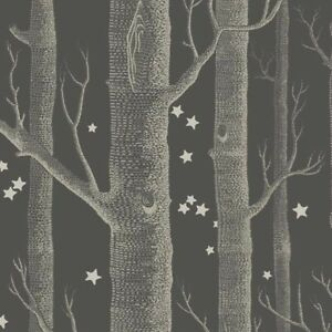 Cole and Son Wallpaper Woods and Stars - BLACK & GORGEOUS!! 103/11053 3 ROLLS