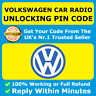 VOLKSWAGEN VW RADIO CODE Beta Gamma RCD 200 210 215 300 310 510 Pin Code Unlock