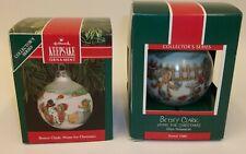 2 Hallmark Christmas Ornaments - 1989 & 1991 Betsey Clark Mib