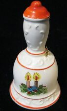 CHRISTMAS BELL - CERAMIC SET OF 2 BELLS - ONE WITH REINDEER AND ONE WITH LIGHTS