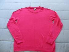 WORTHINGTON HOT PINK SWEATER LONG SLEEVED PULL OVER SCOOP NECK  XLT